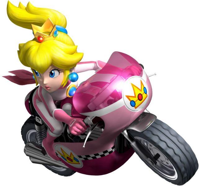 복숭아 in Mario Kart Wii