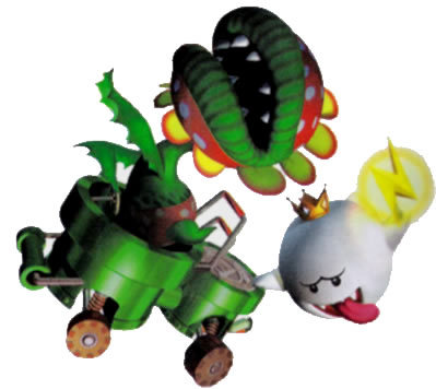 Petey Piranha and King Boo - mario-kart Photo