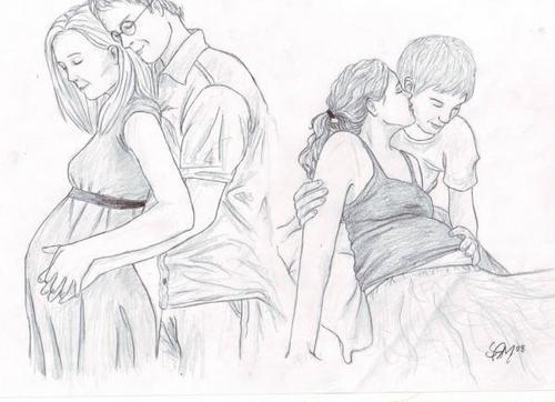 Pregnant Ginny & Hermione