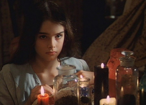 Brooke Shields achtergrond probably with a candle titled Pretty Baby