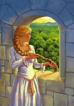 Fairy Tales & Fables Обои entitled Rapunzel