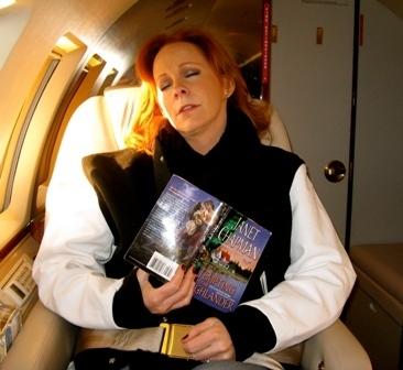 Reba sleeping on plane