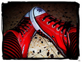 Red Stockigns/Converse