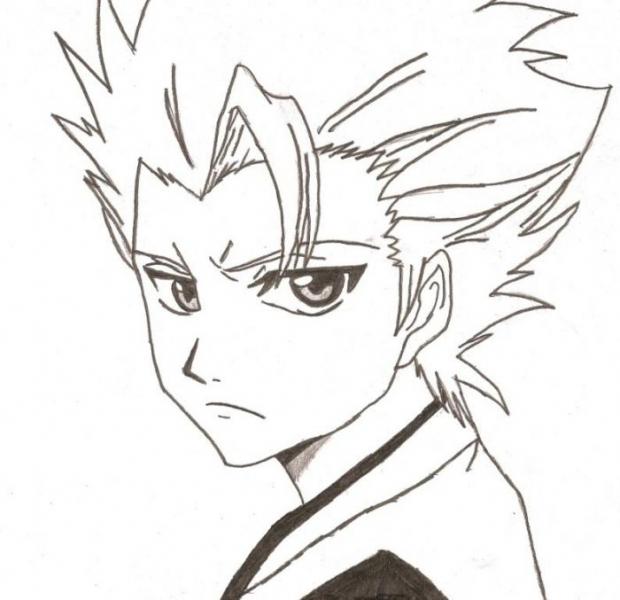 смотреть как нарисовать аниме блич тоширо или тосиро