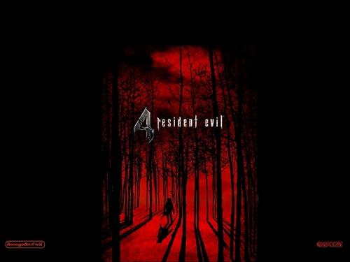 রেসিডেন্ট ইভিল দেওয়ালপত্র titled Resident Evil 4