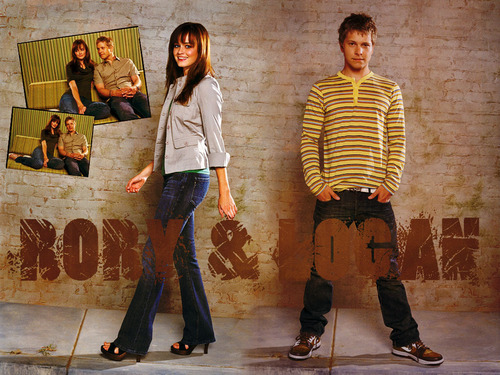 gilmore girls wallpaper probably containing a hip boot entitled Rory and Logan