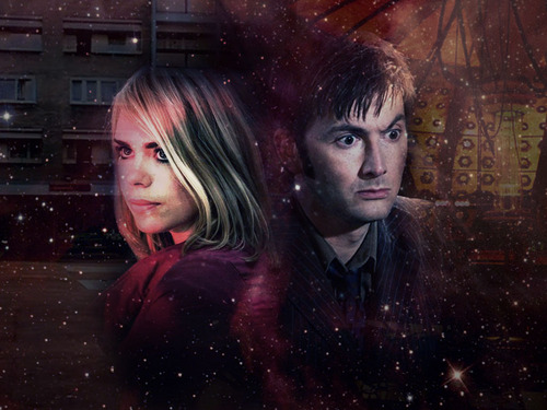 Doctor Who wallpaper probably with a portrait entitled Rose & Doctor