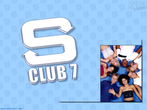 S Club 7 壁紙 possibly with a sign entitled S Club 7