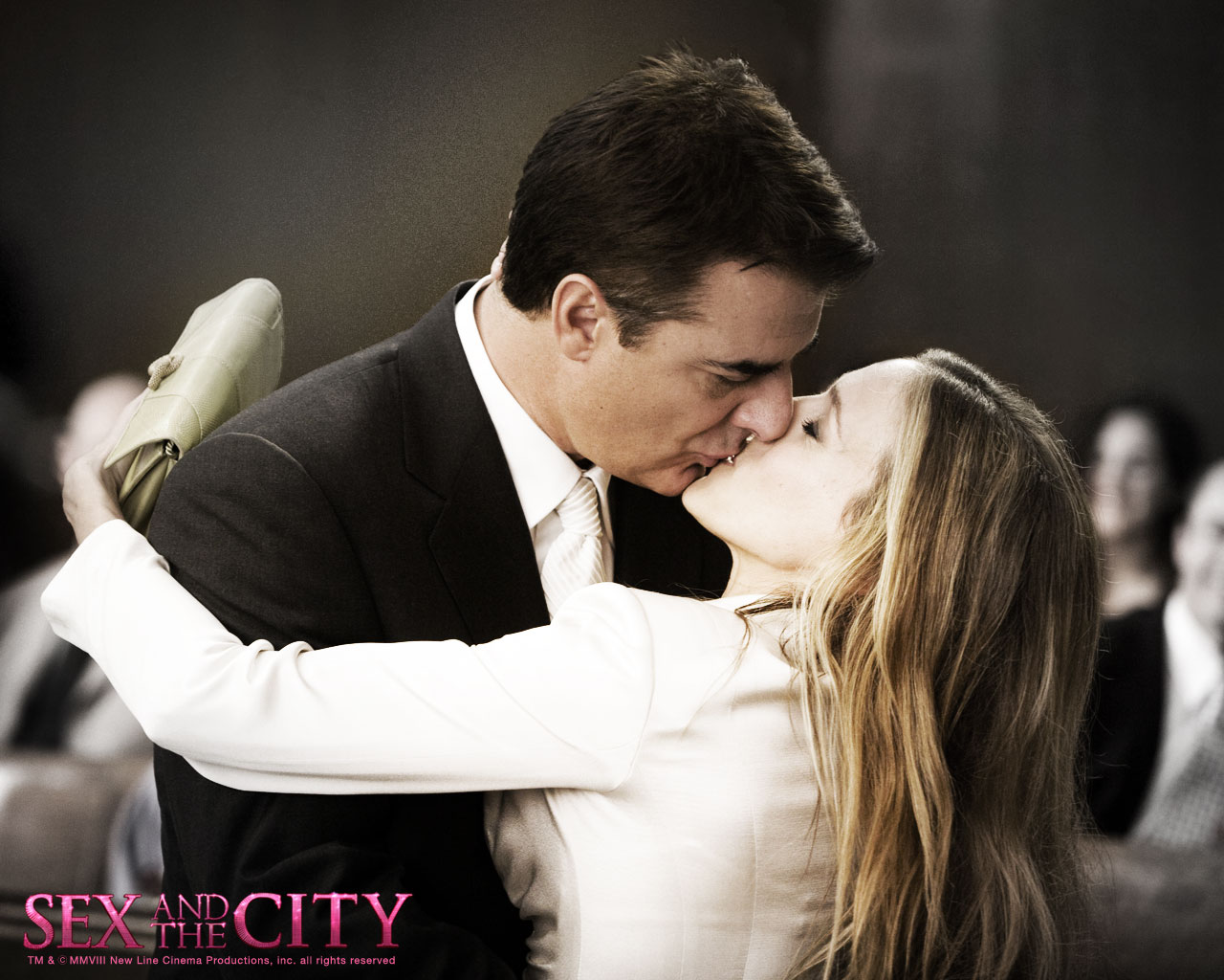 sex and the city movie sexy kiss