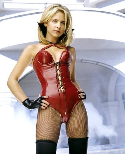 Sarah Michelle Gellar wallpaper containing a bustier and a maillot titled SMG