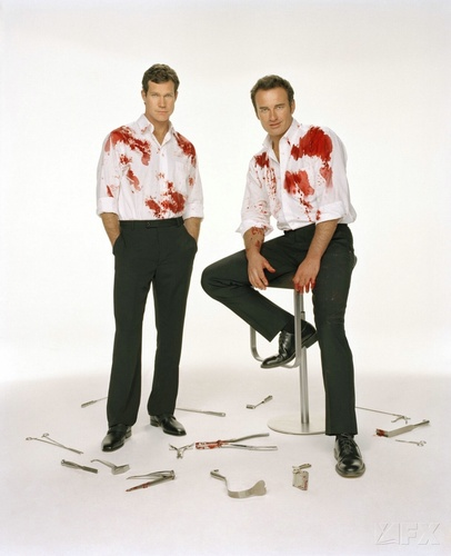 Nip/Tuck fondo de pantalla possibly with a well dressed person titled Sean & Christian