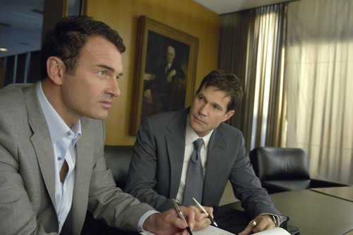 Nip/Tuck wallpaper with a business suit, a suit, and a three piece suit titled Sean & Christian
