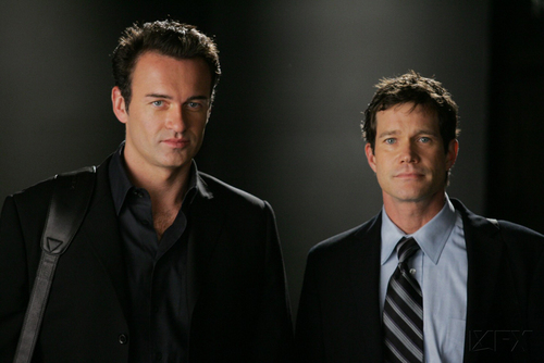 Nip/Tuck wallpaper containing a business suit and a suit entitled Sean & Christian