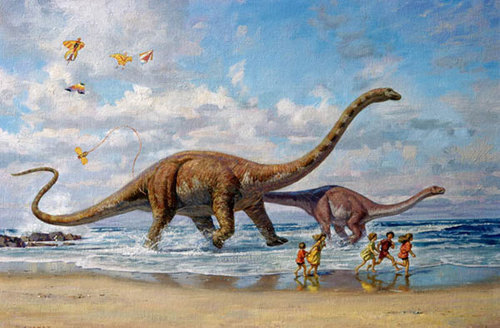Seaside Romp - dinotopia Photo