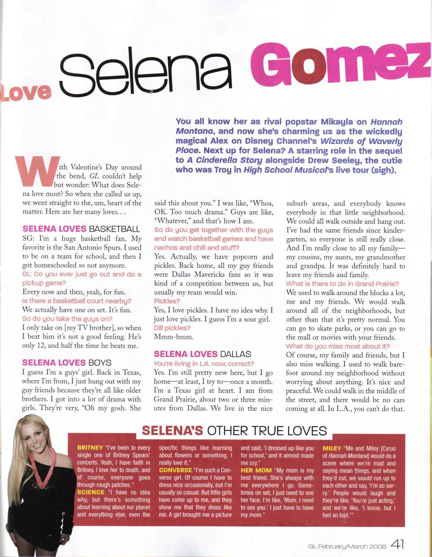 Selena in Girls Life