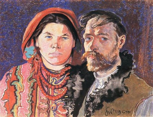 Self-Portrait with Wife