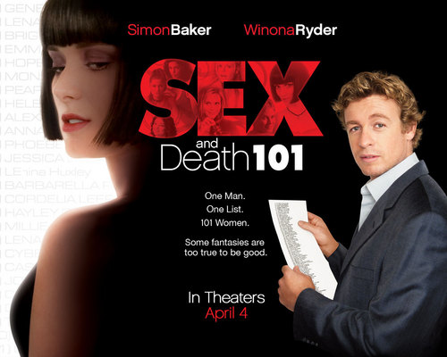 Filem kertas dinding probably with a business suit and a portrait titled Sex and Death 101