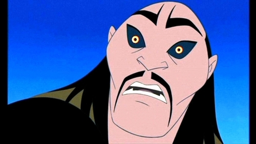 Disney Villains karatasi la kupamba ukuta probably containing anime titled Shan Yu (Mulan)