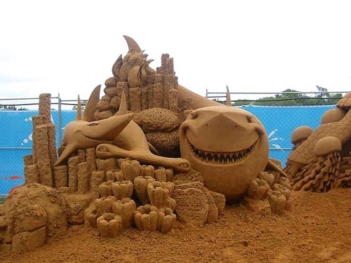 requin sand château