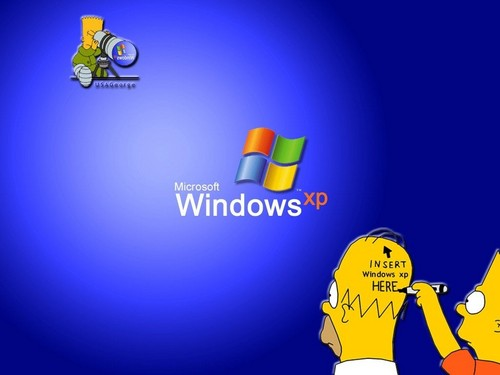 os simpsons wallpaper called Simpson XP walpaper