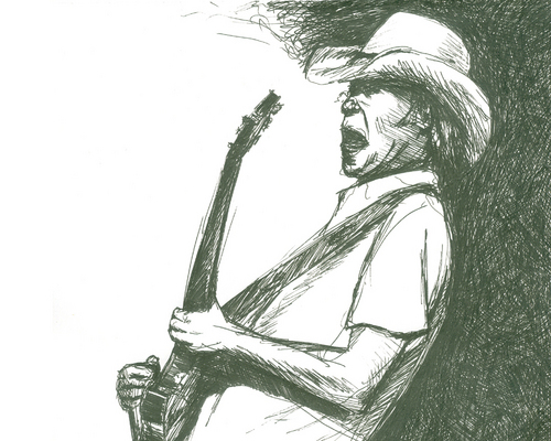 Neil Young wallpaper entitled Sketch