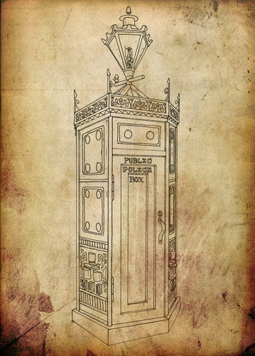 Steampunk Tardis - steampunk Fan Art