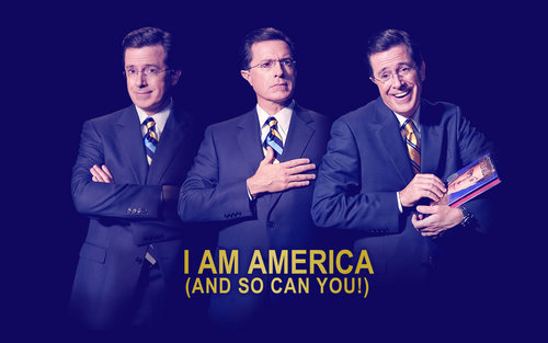 Stephen Colbert wallpaper containing a business suit, a suit, and a two piece titled Stephen