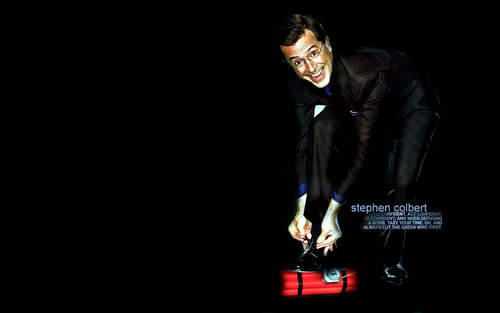 Stephen Colbert wallpaper containing a business suit and a well dressed person entitled Stephen