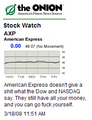 Stock Watch - AmEx
