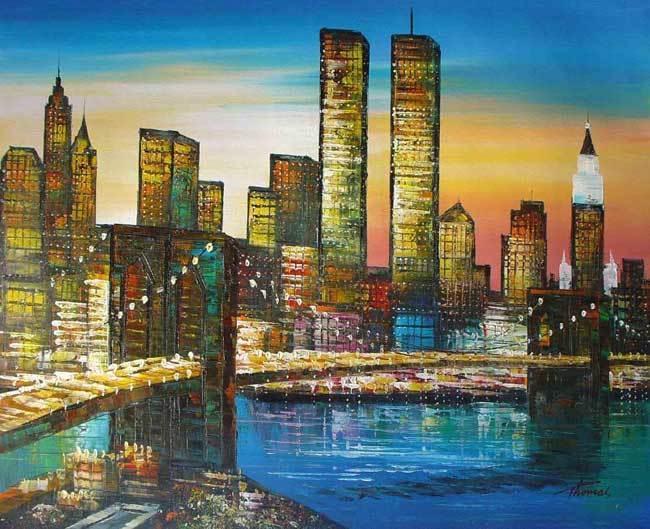 Sunset over NY City