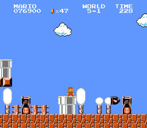 Super Mario Bros. wallpaper probably containing a business district titled Super Mario Bros.