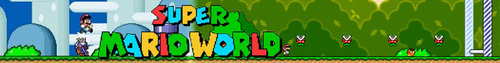 Super Mario World banner