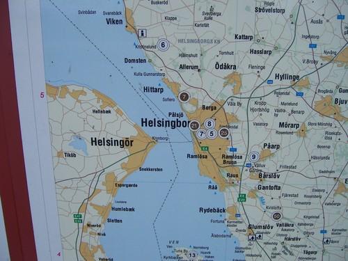 Sweden -Denmark map