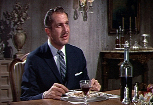 Vincent Price wallpaper containing a business suit, a suit, and a dinner table entitled The Fly