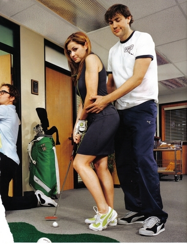 The Office achtergrond probably with a croquet entitled The Office Cast: Puma Ad