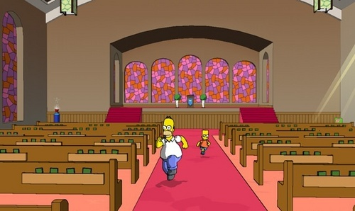 The Simpsons Game wallpaper entitled The Simpsons Game Screens