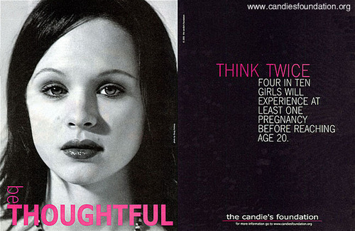 Thora in a Candies ad