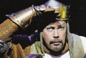 Spamalot wallpaper with an armor plate, a breastplate, and a brigandine titled Tim Curry