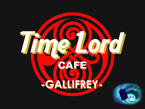 Doctor Who karatasi la kupamba ukuta called Time Lord Cafe