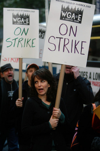 Tina Fey during the strike