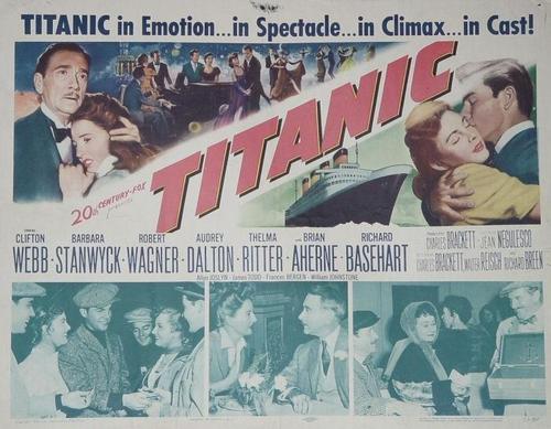 1953 Titanic poster