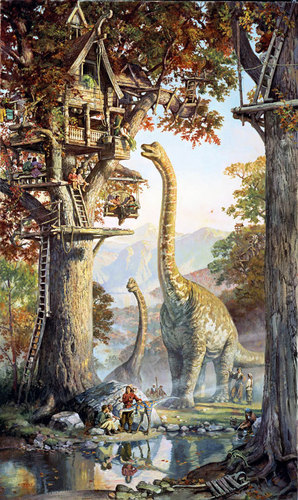 Treetown - dinotopia Photo