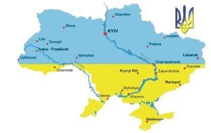Ukrainian map