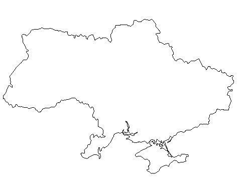 Ukrainian map - ukraine Photo