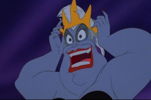 Disney Villains achtergrond probably containing anime titled Ursula (Little Mermaid)