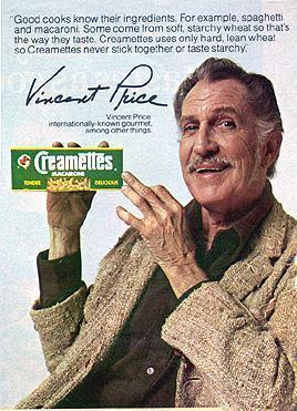 Vincent pasta ad - vincent-price Photo