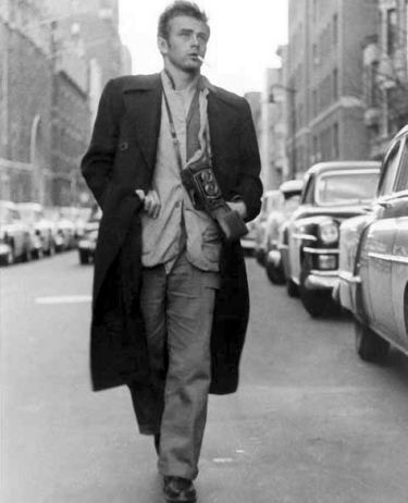 James Dean wallpaper with a business suit, a street, and a suit called Walking In New York