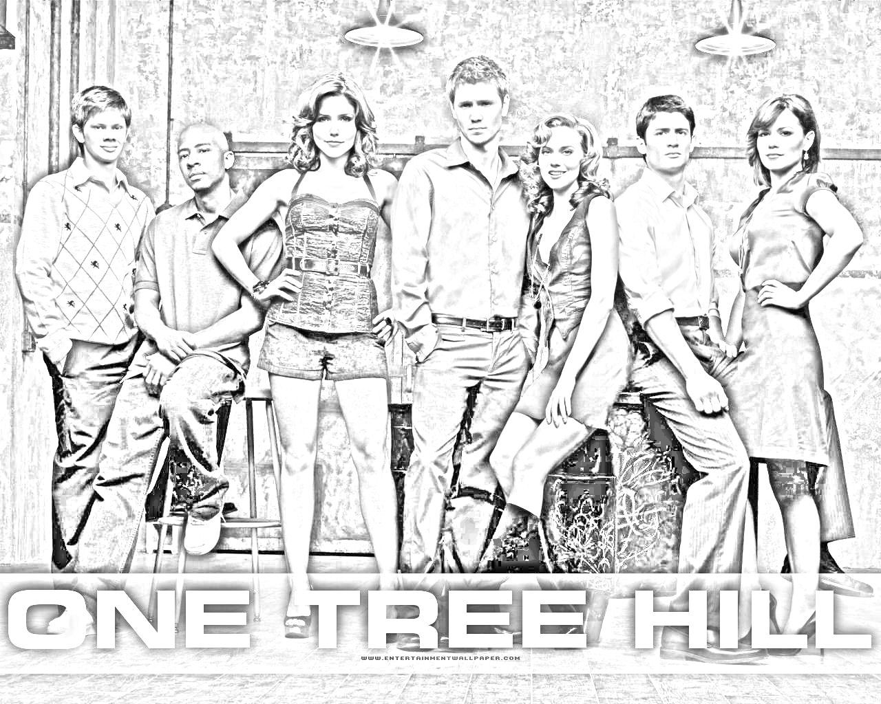 One tree hill coloring pages ~ One Tree Hill Coloring Pages Sketch Coloring Page