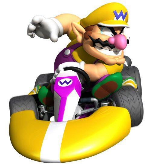 Wario in Mario Kart Wi...