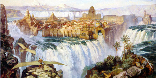 Waterfall City - dinotopia Photo